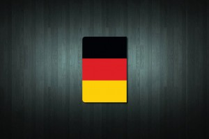 Germany Flag Euro Style Number Plate Sticker