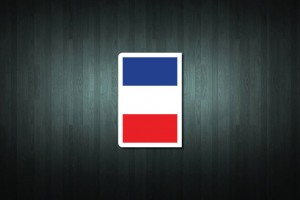 France Flag Euro Style Number Plate Sticker
