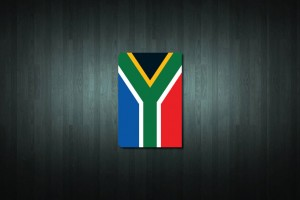 South Africa Flag Euro Style Number Plate Sticker