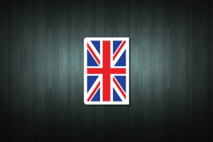 United Kingdom Flag Euro Style Number Plate Sticker