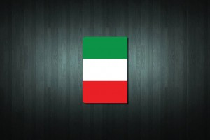Italy Flag Euro Style Number Plate Sticker