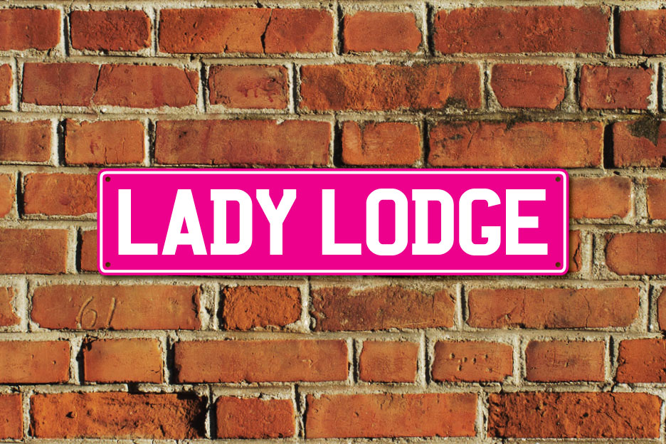 Lady Lodge Metal Sign