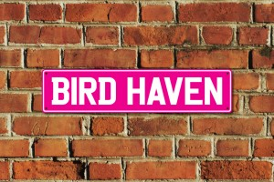 Bird Haven Metal Sign