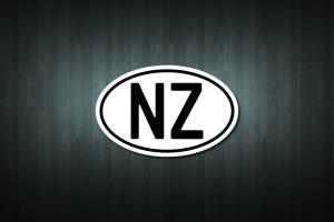 Country Designation Oval Vinyl Decal Sticker (NZ)