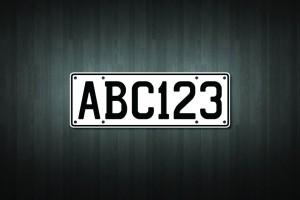 Custom Number Plate Vinyl Decal Sticker