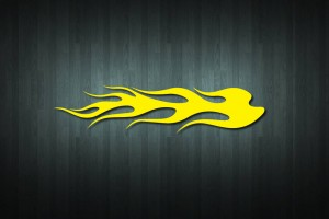 Flaming Vinyl Decal Sticker