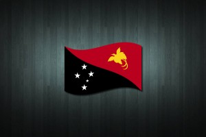 Papua New Guinea Flag Vinyl Decal Sticker