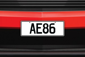 AE86 Licence Plate