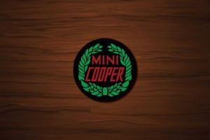 Mini Cooper Drink Coaster