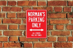 Norman's Parking Only Sign