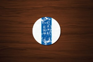 Racing Stripes Drink Coaster