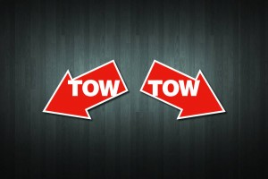 Tow (Angled) Vinyl Decal Stickers