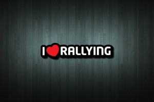 I Love Rallying Vinyl Decal Sticker