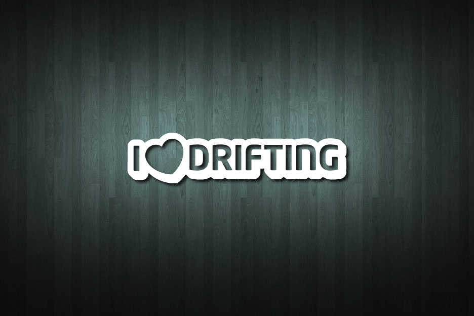 I Love Drifting Vinyl Decal Sticker