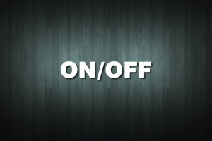ON/OFF Vinyl Decal Sticker