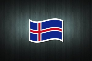 Iceland Flag Vinyl Decal Sticker
