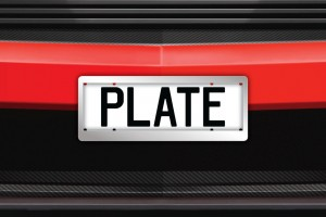 Chrome Number Plate Surrounds