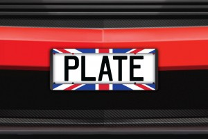 British Flag Number Plate Surrounds