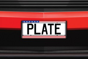 USA Flag Number Plate Surrounds