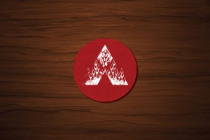 Flaming Mitsubishi Drink Coaster