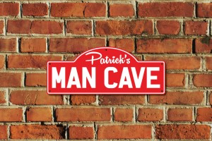 Patrick's Man Cave Metal Sign