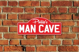 Philip's Man Cave Metal Sign