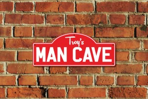 Troy's Man Cave Metal Sign