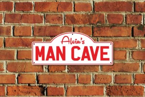 Alvin's Man Cave Metal Sign
