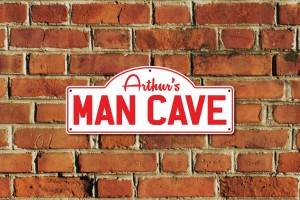 Arthur's Man Cave Metal Sign