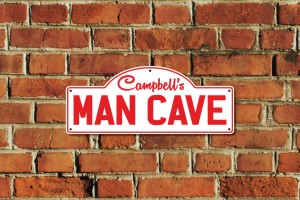 Campbell's Man Cave Metal Sign