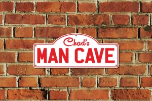 Chad's Man Cave Metal Sign