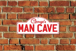 George's Man Cave Metal Sign