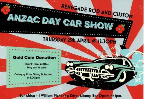 RRC Anzac Day Car Show and Auction