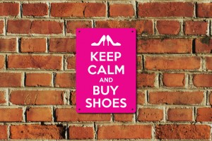 Keep Calm and Buy Shoes Metal Sign