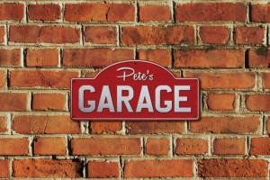 Pete's Garage Metal Sign