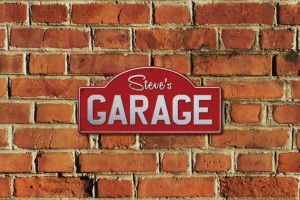 Steve's Garage Metal Sign