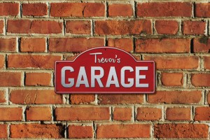 Trevor's Garage Metal Sign