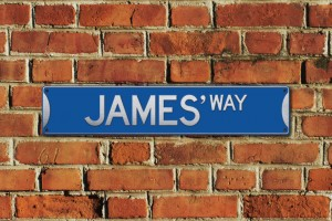 James' Way Metal Sign