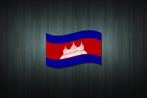 Cambodia Flag Vinyl Decal Sticker