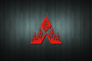 Flaming Mitsubishi Vinyl Decal Sticker
