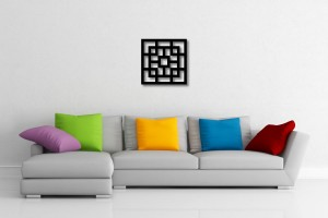 Abstract Square Decorative Wall Art