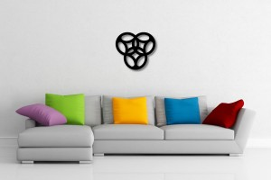 Interlaced Trefoil Pattern Decorative Wall Art