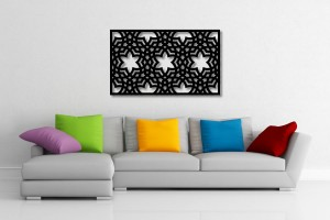 Interlaced Repeating Pattern Decorative Wall Art