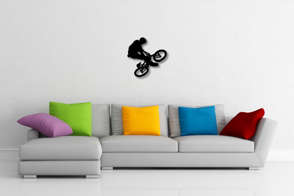 BMX Rider Decorative Wall Art