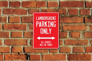 Lamborghini Parking Only Sign