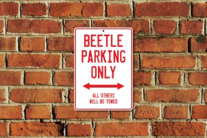 Beetle Parking Only Sign