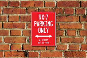 RX-7 Parking Only Sign