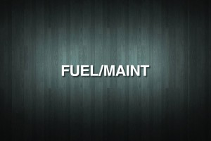 FUEL/MAINT Vinyl Decal Sticker