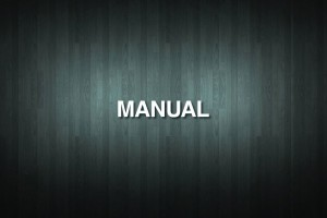 MANUAL Vinyl Decal Sticker