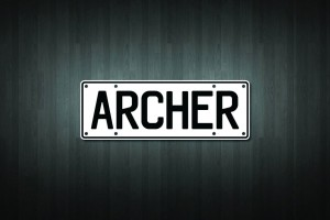 Archer Mini Licence Plate Vinyl Decal Sticker